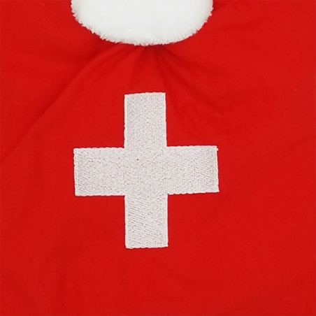 Broderie doudou personnalisé Le Suisse. Cadeau de naissance original personnalisable et made in France. Doudou Nin-Nin