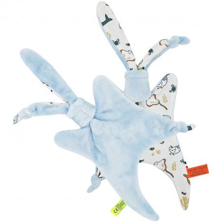 Peluche pieuvre, raie, dauphin, baleine, crabe. Cadeau de naissance personnalisé et made in France. Doudou Nin-Nin