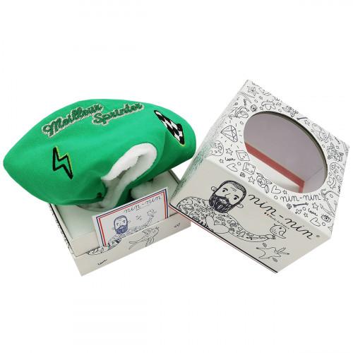 Boite cadeau doudou Le Sprinter du Tour 2021 maillot vert. Cadeau de naissance personnalisé et made in France. Nin-Nin