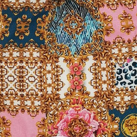 Tissu doudou Le Rococo. Cadeau de naissance personnalisé et made in France. Doudou Nin-Nin