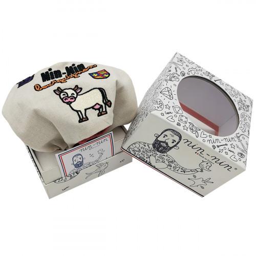 Doudou mouchoir Bourguignon personnalisable. Cadeau de naissance original et made in France. Nin-Nin