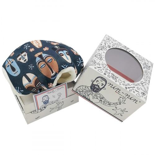 Doudou mouchoir Le Dogon. Cadeau de naissance personnalisé et made in France. Doudou Nin-Nin