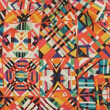 Tissu doudou Le Himba. Cadeau de naissance personnalisé et made in France. Doudou Nin-Nin