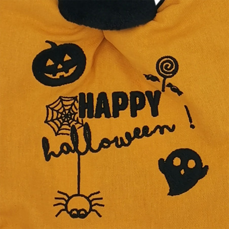 Broderie doudou personnalisé Halloween. Cadeau de naissance original et made in France. Doudou Nin-Nin