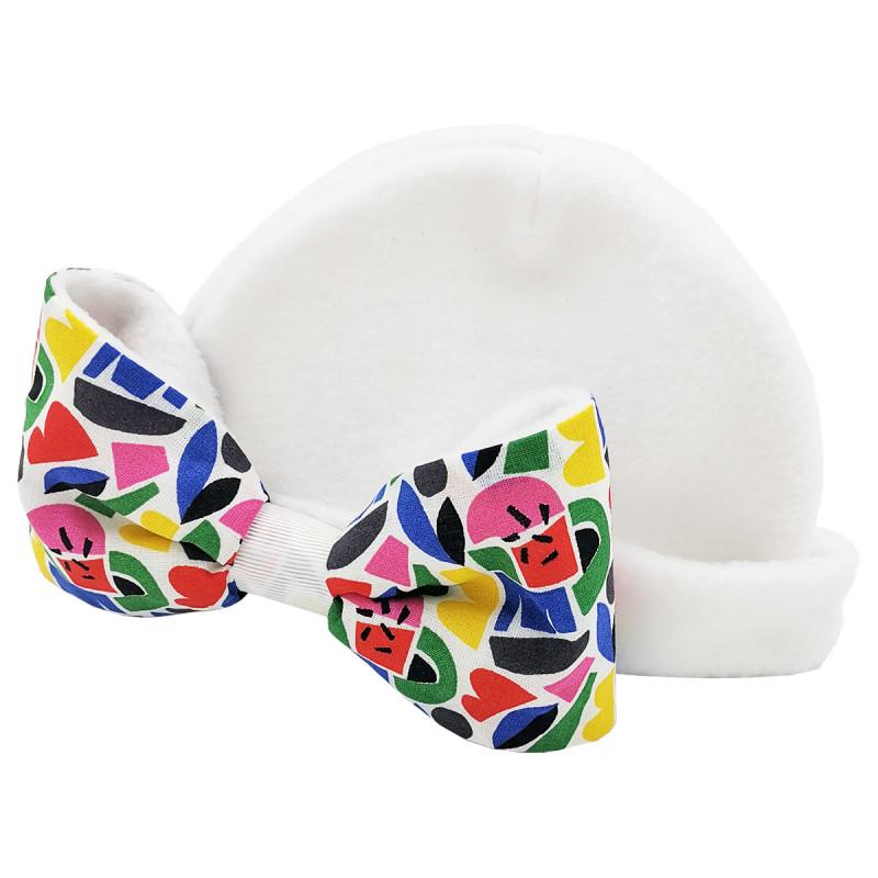 Bonnet gros noeud pour fille Le Chérie Chérie. Fabrication Française