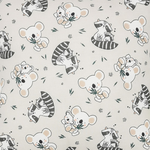 "Tissu coussin ""Raccoon"". Cadeau de naissance original personnalisable et made in France. Nin-Nin"
