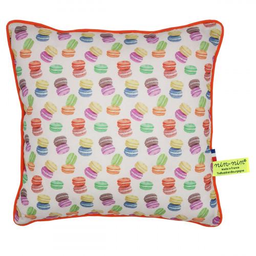 "Coussin ""Macaron"". Cadeau de naissance original personnalisable et made in France. Nin-Nin"