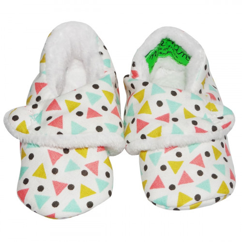 CHAUSSONS BAS FUNKY bébé triangles