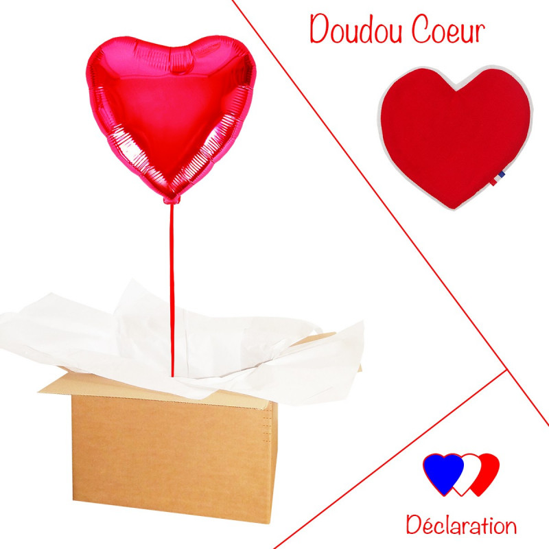BALLON COEUR ROUGE LOVE