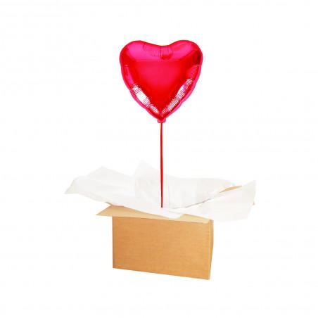 BALLON COEUR ROUGE LOVE hélium