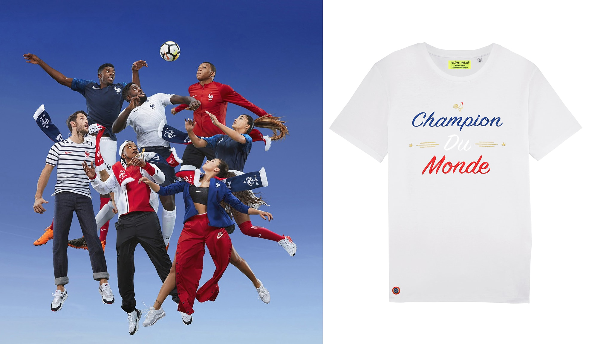 t-shirt foot champion du monde